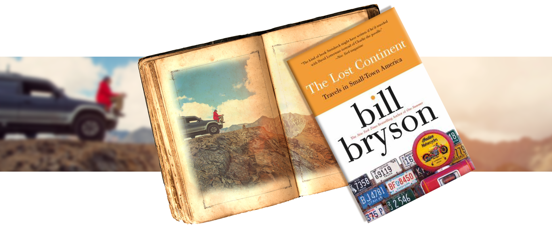 The lost continent by Bill Bryson - vintage book - road trip across America