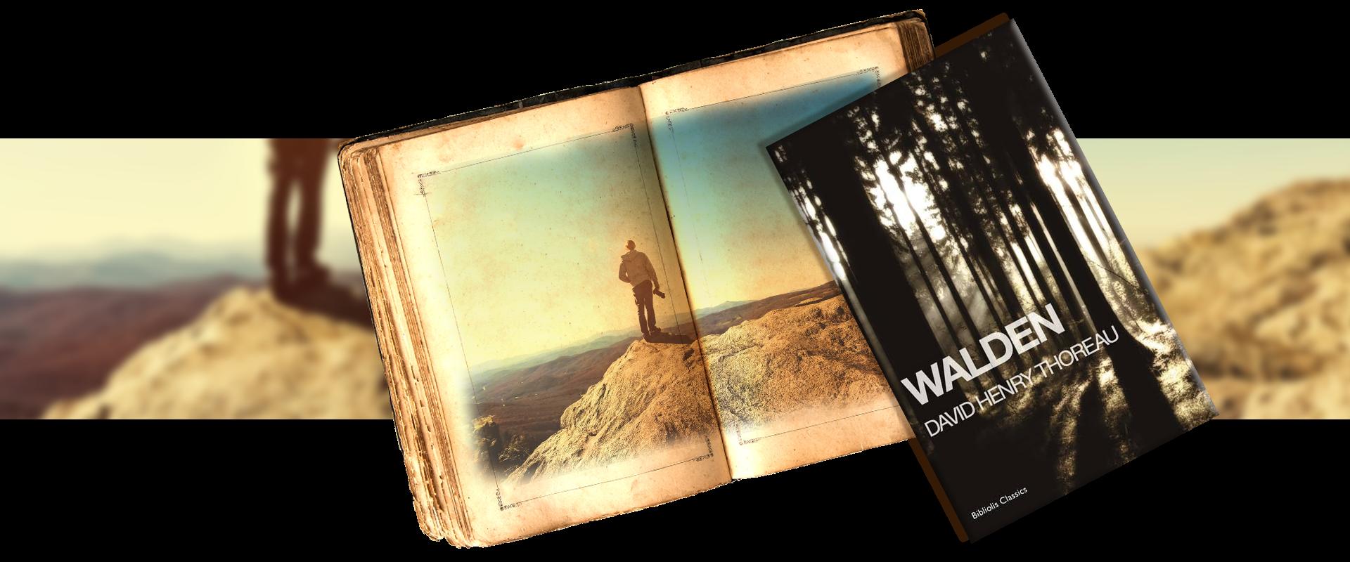 Walden by Davide Henry Thoreau - vintage book - simple life of a traveler