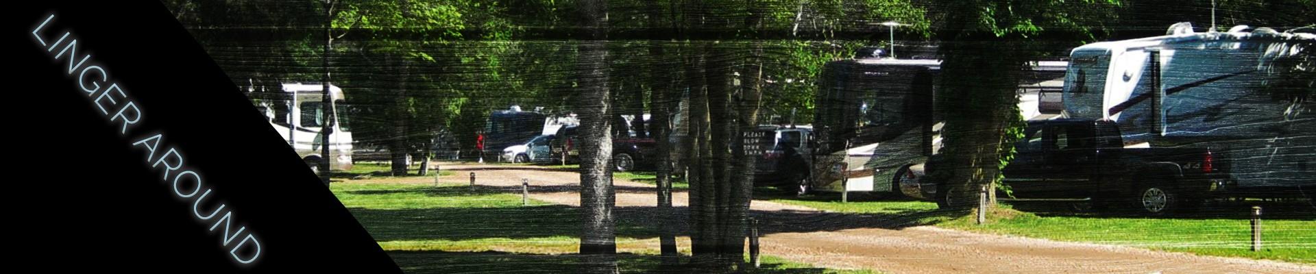 linger around - RV campsite