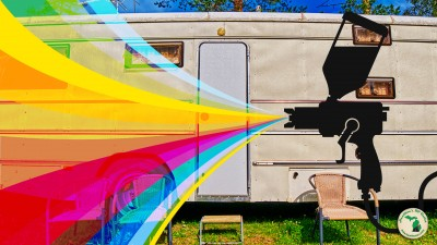 Old RV And Spray Painting