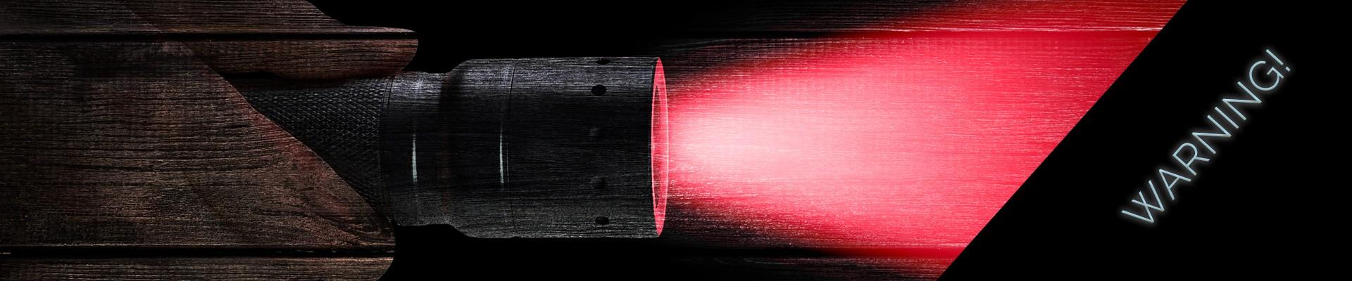 warning - red light flashlight