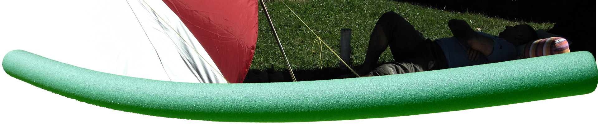 guy-napping-and-tent-lines-with-green-pool-noodle