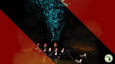 Tubing In Waitomo Glowworm Caves New Zealand Feature