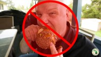 Avoid eating a caramel apple like this man.