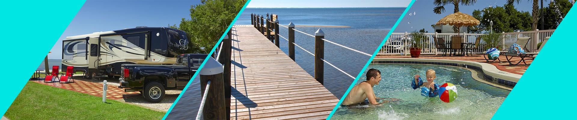 Coastline RV Resort in Eastpoint, Florida