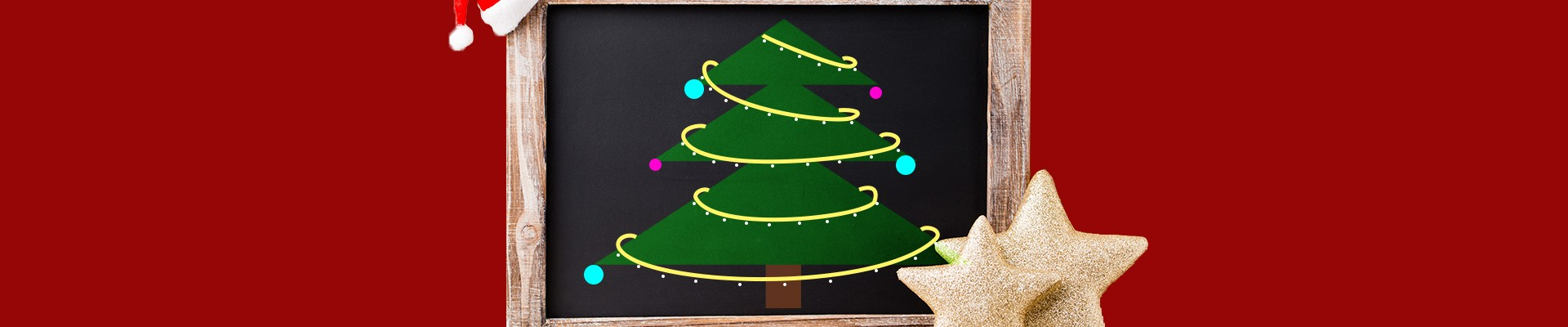 Chalk board - DIY Christmas trees
