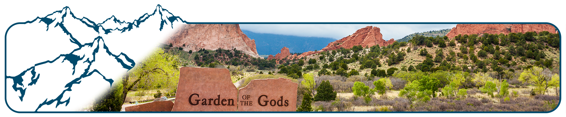 Entrance to the Garden of the Gods in Colorado.