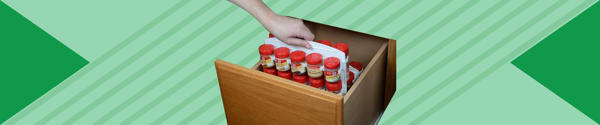 Organize those spices in your kitchen.