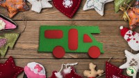 Rv felt ornament