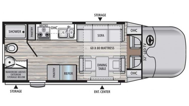 2018 REV 24RB Floor Plan
