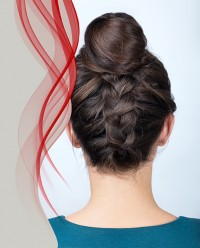 Reverse French Braid With a Bun
