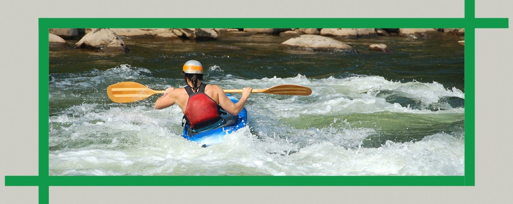 Whitewater kayaking in World's End State Park, Pennsylvania