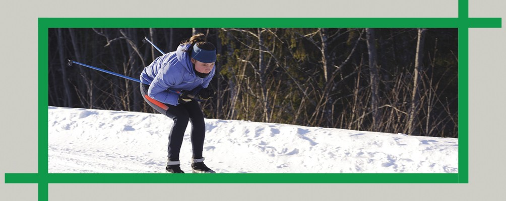 Cross-country skiing in World's End State Park, Pennsylvania