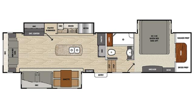 2018 Brookstone 325RL Floor Plan