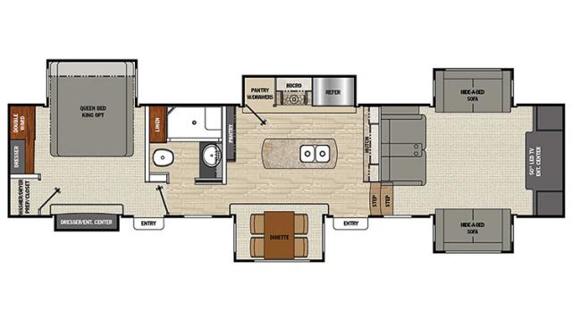 2018 Brookstone 369FL Floor Plan