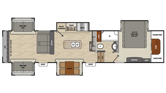2018 Brookstone 378RE Floor Plan