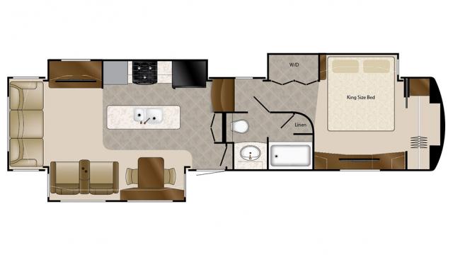 2018 Mobile Suites 38RSB3 Floor Plan