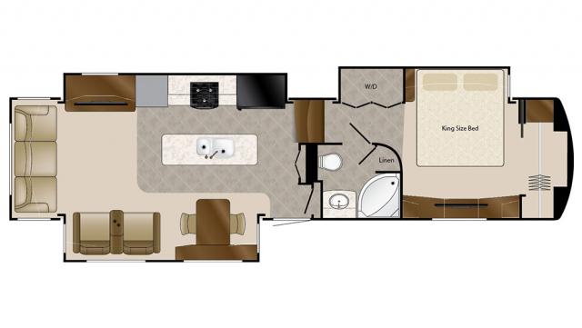 2018 Mobile Suites 38RSSB3 Floor Plan