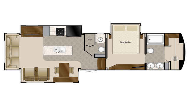 2018 Mobile Suites 39DBRS3 Floor Plan