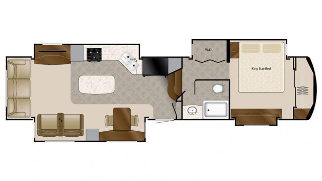 2018 Mobile Suites 40KSSB4 Floor Plan