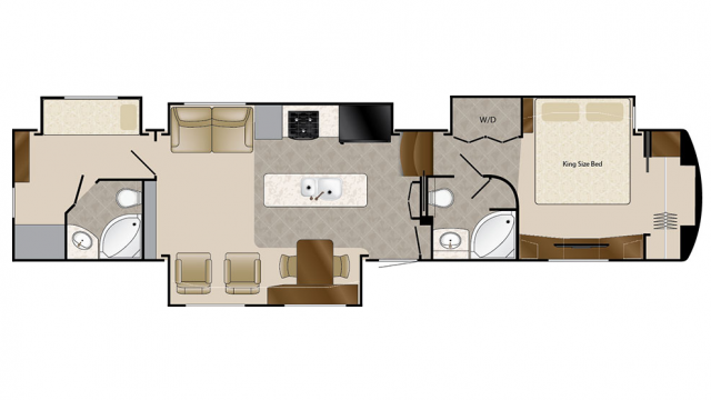 2018 Mobile Suites 43 MANHATTAN Floor Plan