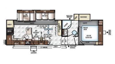 2018 Rockwood Signature Ultra Lite 8280WS Floor Plan