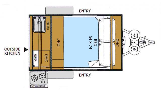 2018 Rockwood Geo Pro 12RK Floor Plan