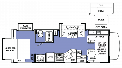 2018 Sunseeker 2500TS CHEVY Floor Plan