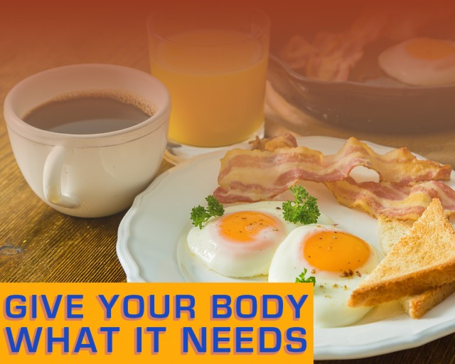 Give your body what it needs. Hangover cures