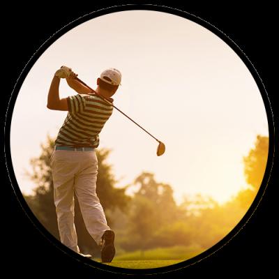 Take a guy's trip full of golfing
