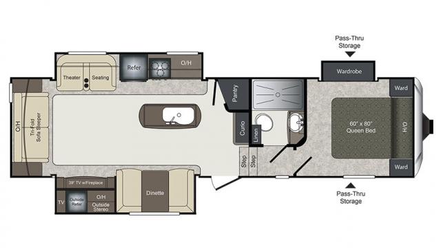 2018 Laredo SUPER LITE 298RL Floor Plan