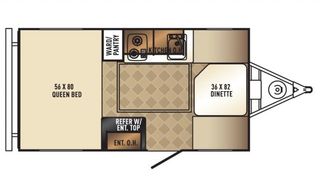 2018 Real-Lite Mini 132 Floor Plan
