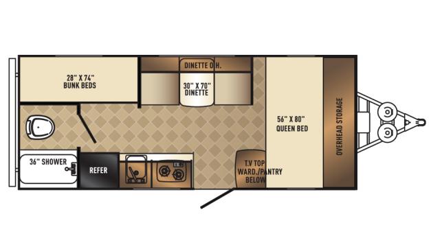 2018 Real-Lite Mini 177 Floor Plan