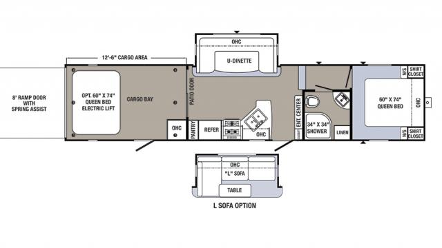 2018 Puma Unleashed 373QSI Floor Plan