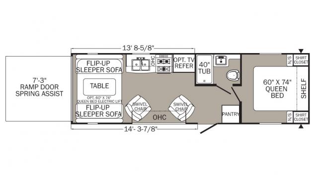 2018 Puma XLE 27SBC Floor Plan