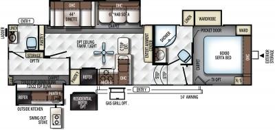 2018 Rockwood Signature Ultra Lite 8301WS Floor Plan