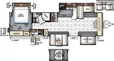 2018 Rockwood Signature Ultra Lite 8324BS Floor Plan