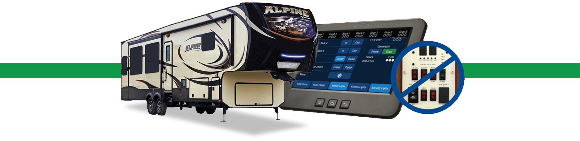 Keystone's In-Command Control System for monitoring your RV