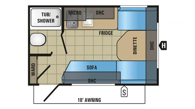 2018 Jay Flight SLX 145RB Floor Plan