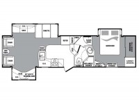 2009 Cougar 318SAB Floor Plan