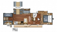 2018 Eagle HT 29.5BHOK Floor Plan
