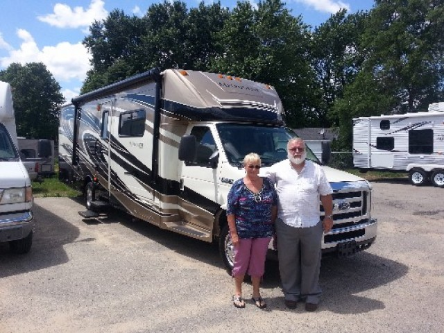 Judy Bennett of Stonewell, VT with their Melbourne 29D