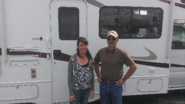 Cynthia Shepard of Clever, MO with their Sunseeker 2290S CHEVY