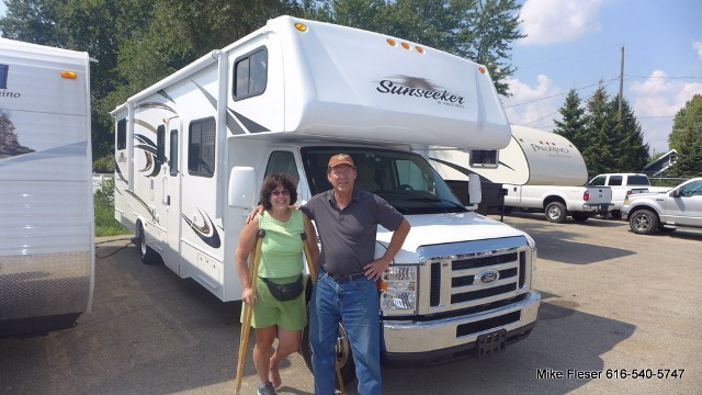 Dave Stephenson of Yahtahey, NM with their Sunseeker 3050S