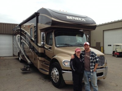 Evans Family Hoersch of Centerburg, QC with their Seneca 36FK