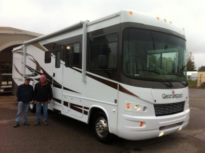 Jim Stante of Kalamazoo with their Georgetown 328TS