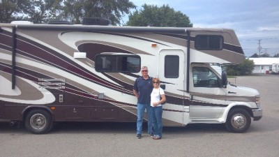 John Berry of Auburn with their Sunseeker 3010DSF