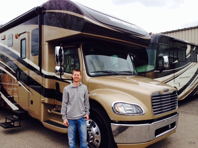 Matt Wright of Grand Rapids, MI with their Seneca 36FK