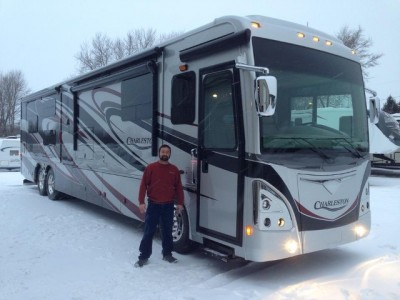 Randon Ostrowski of McCook, WI with their Charleston 430FK