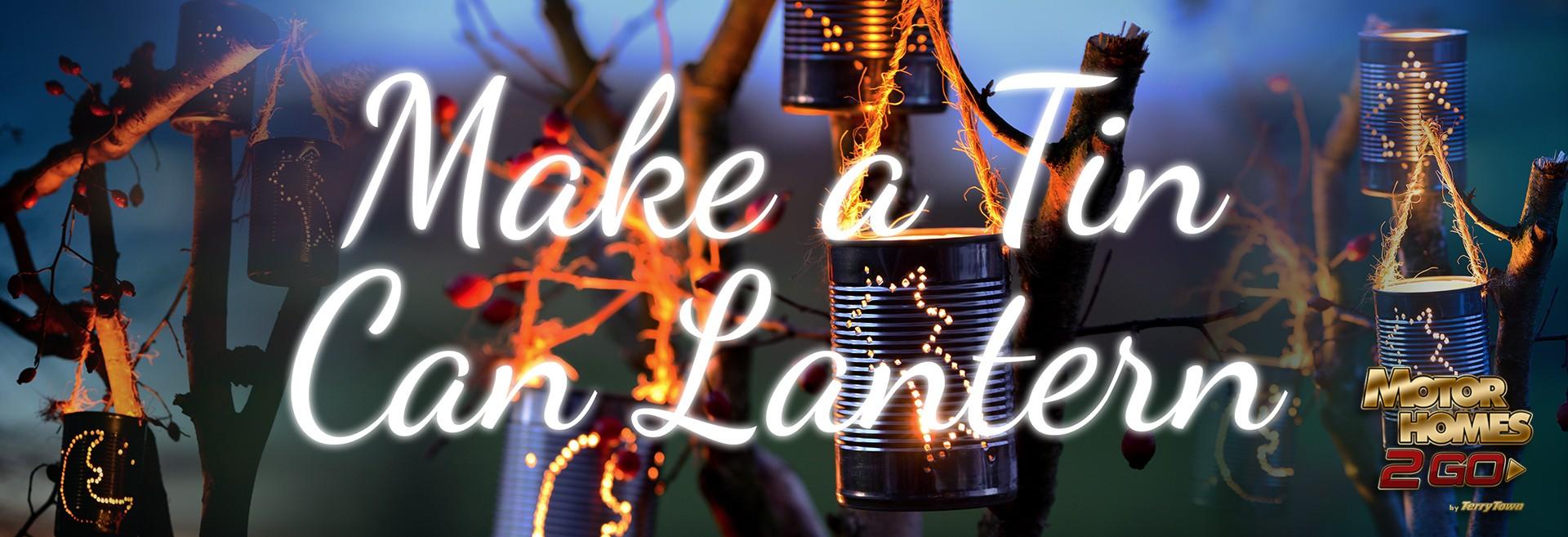Make a tin can lantern banner